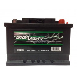 Аккумулятор автомобильный Gigawatt G60R