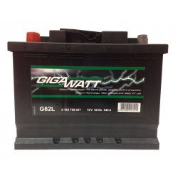 Аккумулятор автомобильный Gigawatt G62L