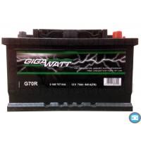 Аккумулятор автомобильный Gigawatt G70R