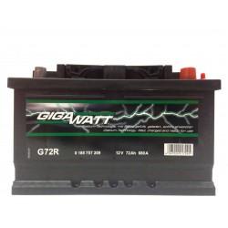 Аккумулятор автомобильный Gigawatt G72R