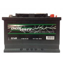 Аккумулятор автомобильный Gigawatt G74R