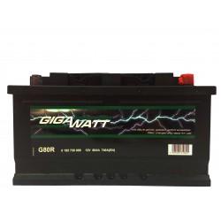 Аккумулятор автомобильный Gigawatt G80R