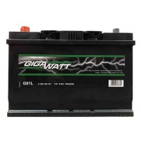 Аккумулятор автомобильный Gigawatt G91JL (110D26R)