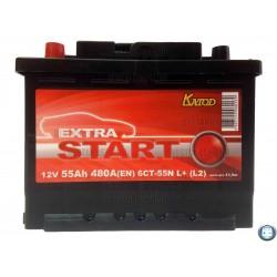Аккумулятор Extra Start 55 а/ч 6СТ 55 L