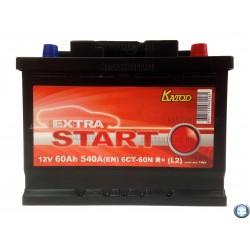 Аккумулятор Extra Start 60 а/ч 6СТ 60 r 540A