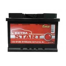 Аккумулятор Extra Start 61 ah 610 A (6СТ-61VL R)