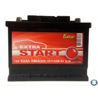 Аккумулятор Extra Start 62 а/ч 6СТ 62 r