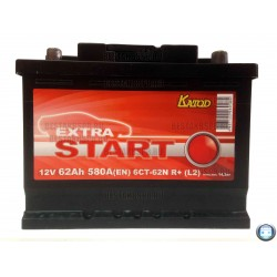 Аккумулятор Extra Start 62 а/ч 6СТ 62 L
