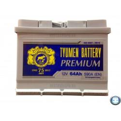 Аккумулятор автомобильный Тюмень Премиум 64 а/ч r