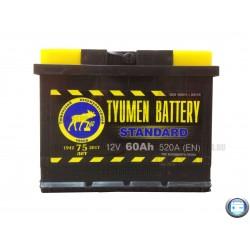 Аккумулятор автомобильный Тюмень Стандарт 60 а/ч r