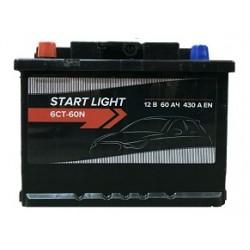 Аккумулятор автомобильный START LIGHT 60L 430А