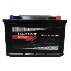 Аккумулятор START LIGHT 6СТ 75 R