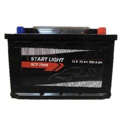 Аккумулятор автомобильный START LIGHT 6СТ 75 R