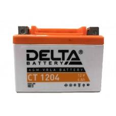 Аккумулятор мото Delta CT 1204 YB4L-B, YT4L-BS, YTX4L-BS AGM