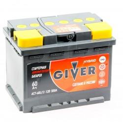 Аккумулятор автомобильный Giver 6СТ 60 ah L
