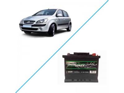 Лучший аккумулятор на Hyundai Getz I — Gigawatt G52R
