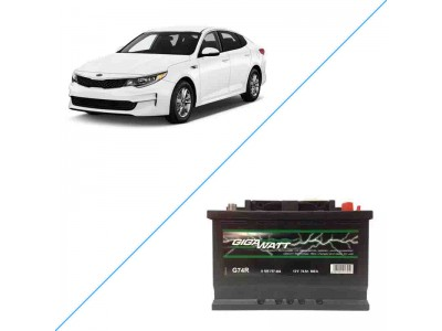 Лучший аккумулятор на Kia Optima IV (JF) – Gigawatt G74R