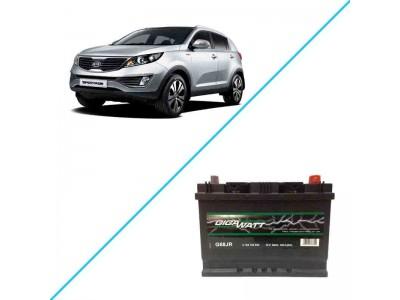 Лучший аккумулятор на Kia Sportage III — Gigawatt G68JR