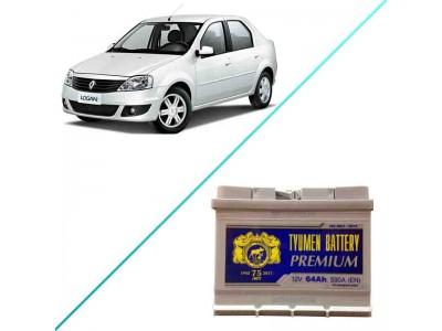 Лучший аккумулятор на Renault Logan I — Tyumen Battery Premium 64 R+