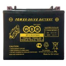 Аккумулятор мото WBR YTX30L, YB30L-B, YIX30L-BS AGM