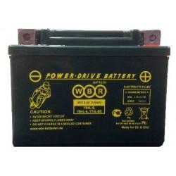 Аккумулятор мото WBR YB4L-B, YT4L-BS, YTX4L-BS AGM