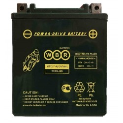 Аккумулятор мото WBR YTX7L-BS AGM